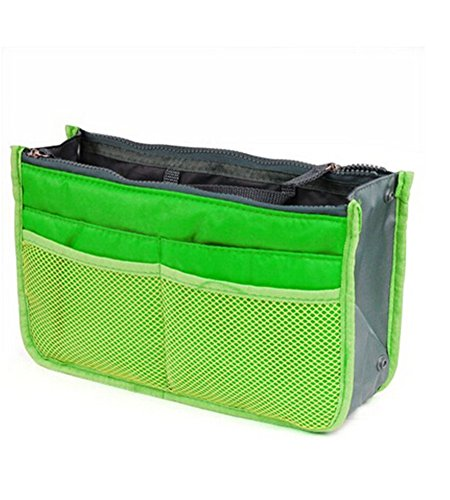 Natthom Handtaschen-Beutel-Beutel im Beutel-Organisator-Einsatz-Organisator-saubere Spielraum-kosmetische Tasche (Pink) Green