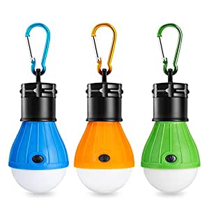 Eletorot Camping Light Tent Light Portable Outdoor Waterproof Camping Lantern LED Light Bulb COB150 Lumens Emergency Light Lamp for Camping,Hiking,Fishing,Hunting,Backpacking,Activities (3 Pack)