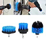 DYTesa Tile Grout Power Scrubber Cleaning Brushes Cleaner Set for Electric Drills 3Pcs/Set