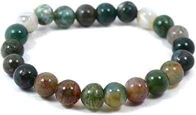 Bloodstone Crystal Bracelet 8mm Bracelet Reiki Chakra Healing Stone For Unisex