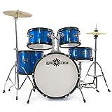 Batería Acústica Junior de 5 Piezas de Gear4music en Azul