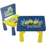 Minions Table avec Chaise Garçon Le Buddies 40 x 35 x 35 cm - Jaune - 40 x 35 x 35 cm