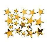 Masterein 20 teile / satz Sternform Spiegel Aufkleber 3D Acryl Sterne Gespiegelte Abziehbilder DIY Zimmer Dekoration Tapete Gold