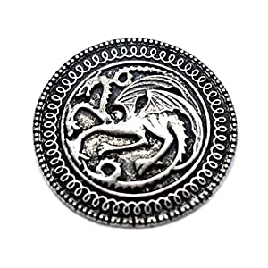 "Targaryen Drache Anstecknadel Brosche Song Of Ice und Fire, Design ""Game Of Thrones)"