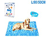 YGJT Tappetino Refrigerante per Cani Grande/Moderato e Animali Domestici Pad di Raffreddamento Automatico Stuoia per Cani per L'Estate (50X90CM)