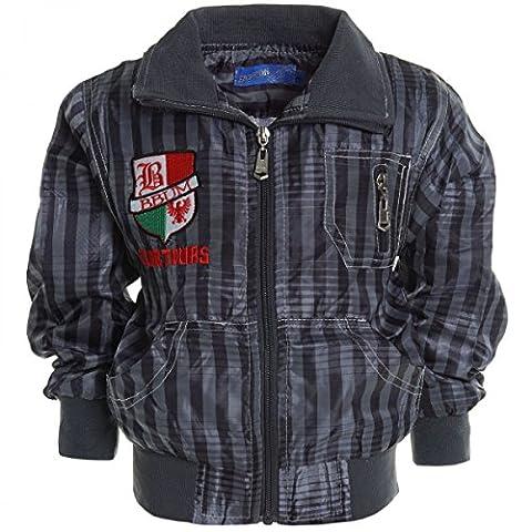 Kinder Jungen Jacke Mantel Kids Stepp Sweat Übergangs Jacke Blazer 20498, Farbe:Grau;Größe:116