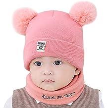 590a287b3c00 Bonnet Bébé, Mamum 2pc Bonnet + Tour de Cou Hiver Bébé Enfants Cagoule Chaud  Casquette