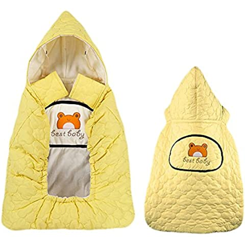 Moda autunno e l'inverno Marsupio Mantello Vestito per i ragazzi e le ragazze di cotone attesa del vento