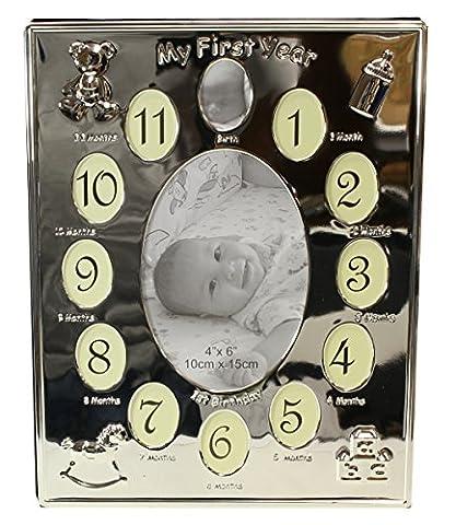 Plaqué argent My First Year''/ cadre Photo pour bébé-pour 13 photos