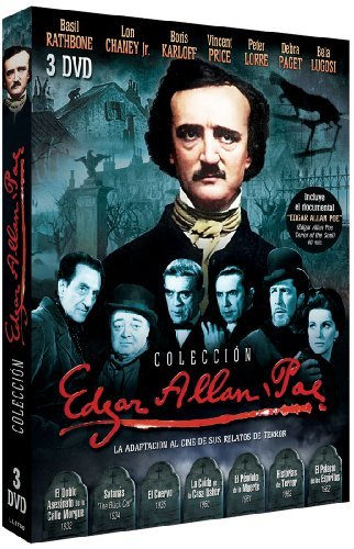 Edgar Allan Poe Collection (7 Films) (Region 2) Murders in the Rue Morgue - The Black Cat - The Raven - House of Usher - The Pit and the Pendulum - Tales of Terror - The Haunted Palace by John Heard
