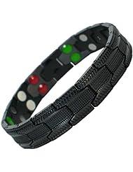 MPS Titan 5 Elements magnetische Armband für Männer mit Klappschließe, Leistungsstarke 3000 Gauß Magneten, und gratis geschenk beutel