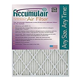 18x20x1 (17.5 x 19.5) Accumulair Diamond 1-Inch Filter (MERV 13) (6 Pack)
