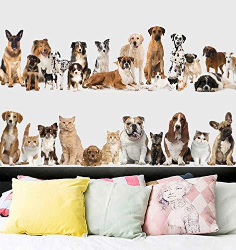 Wandaufkleber Küche Nette Husky Deutscher Schäferhund Haustier Hund Große 3D Sammlung Wandaufkleber Pet Shop Kinder Dekoration Tier Kunstwandplakat