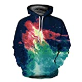 Xmas Men and Women Lovers Loose Large Size Street Style Flame Star Pattern Hooded Sweater Hoodies Pullovers Sweaters Baseball Clothing,FigureColor-M