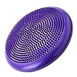 LovelysunshiDEany Universal Home Balance Disc PVC-Balance-Yoga-Bälle Tragbare Massage-Pad Massagekissen Fitness-Trainingsball - Lila