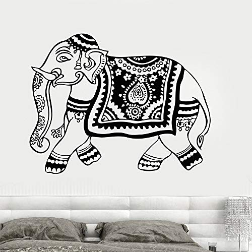 n Vinyl Wall Deca Hindu Tier Hinduismus Kunst Aufkleber Wandbild Yoga Ganesh Tribal Wall Mur 42x56cm ()