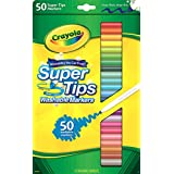 Crayola Washable Super Tips with Silly Scents Markers, 50 Count
