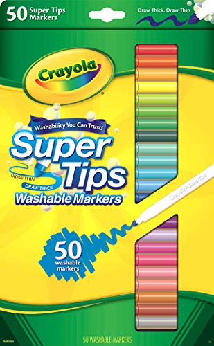 CRAYOLA Super Tips Washable Markers-Assorted Colors 50/Pkg (Flächen-diagramm)