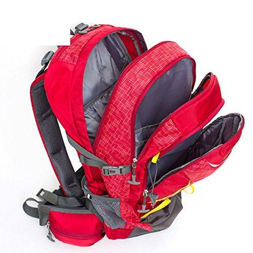 Groß Kapazität Bergsteigen Tasche Outdoor Wandern Rucksack Reisen Tasche Wasserdicht 40L Red