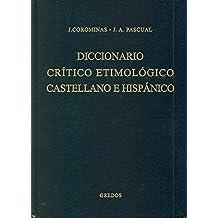 Diccionario critico etimologico 2 (ce-f) (DICCIONARIOS)