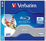 Verbatim 43712 BD-R 6x 25GB Blu-ray Printable Jewel Case