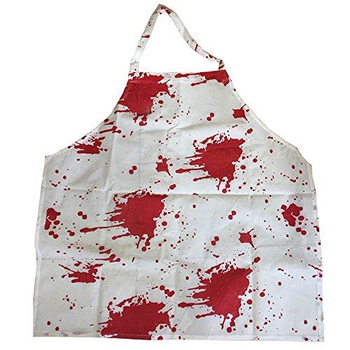 Erwachsene blutig Schürze perfekt für Halloween Kostüm Zubehör Killer Chef METZGER Film Kostüme erhältlich in einem Größe