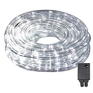 Tubo de luces LED, 10 m, 240 luces LED con 8 modos, para interior y exterior, luces para pasillos, jardines, Navidad, bodas, fiestas, tubos de luz blanca cálida/blanca