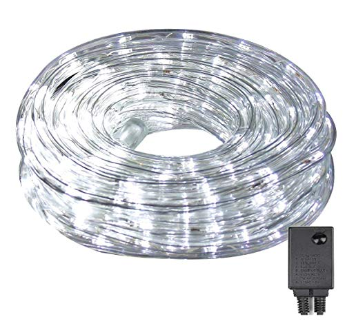 Salcar Wasserdicht 10m LED Lichterschlauch IP44 Schwimmbäder LED Lichterkette 3 x Legierungsdraht Waterproof Umweltfreundlich PVC für Garten Fest Weihnachten Hochzeit Dekoration - Weiß
