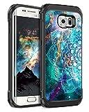 BENTOBEN Samsung Galaxy S7 Edge Hülle, S7 Edge Handyhülle Samsung S7 Edge Handyhülle Nebula Mandala stoßfest Schutzhülle Hybrid PC Schale TPU Cover Hülle für Samsung Galaxy S7 Edge G935 Fluoreszenz