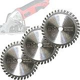 3x Mini Hoja de sierra circular hoja de sierra para madera Ø 85x 10mm dientes para Apex/Timbertech/Powerplus/Germania
