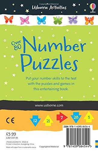 Over 80 Number Puzzles (Usborne Puzzle Books)