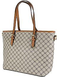 569324acde Shopping bag donna ecopelle borsa grande capiente a spalla con tracolla  nera stampa giornaliera tutti i giorni da…