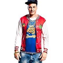 Yijja Fast Fun - Rapper, camiseta de manga larga para adultos, talla M (Charm Kingdom YJ00051)