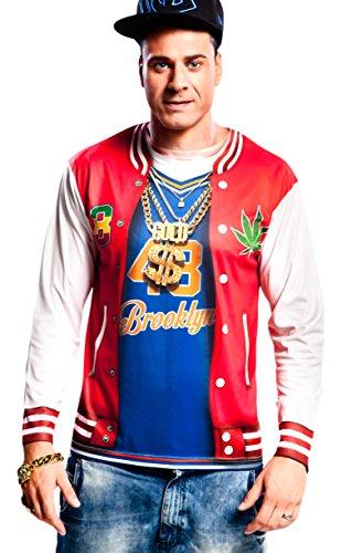 Yijja Fast Fun - Rapper, camiseta de manga larga para adultos, talla XL (Charm Kingdom YJ00053)