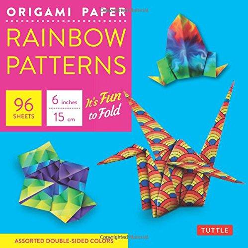 Origami Paper - Rainbow Patterns - 6