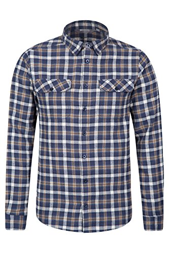 mountain-warehouse-trace-mens-flannel-long-sleeve-checked-shirt-navy-medium