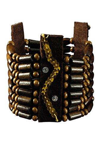 Unbekannt Indianer Schmuck Armband braun ()