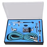 New Professional Sunction Gravity Feed Double Action Airbrush Spray Gun Kit with 0.25mm+0.3mm+0.5mm needle, [Importado de UK]