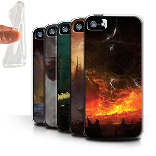 Offiziell Chris Cold Hülle / Gel TPU Case für Apple iPhone 5/5S / Apokalypse Muster / Gefallene Erde Kollektion Pack 8pcs