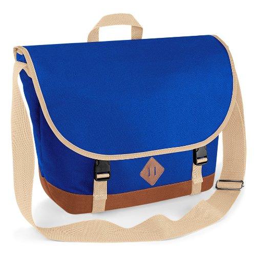 Bag-base - cartable Sacoche bandoulière vintage rétro Heritage Messenger BG865 - mixte - coloris bleu roi