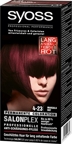Syoss Haarfarbe, 4-23 Marsala, 3er Pack (3 x 115 ml)