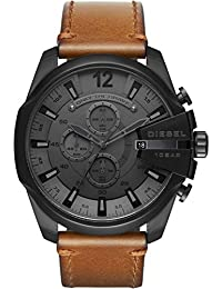 Diesel Herren-Armbanduhr Quarz One Size, grau, braun