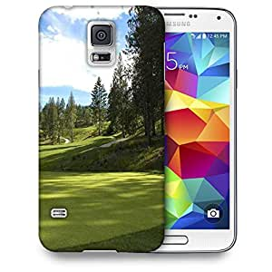 Snoogg Green Park For Golf Printed Protective Phone Back Case Cover For Samsung S5 / S IIIII