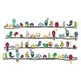 decalmile Bunte Nette Vögel Wandaufkleber Abnehmbare Vinyl Wandtattoo Wandbilder Für Schlafzimmer Wohnzimmer Büro