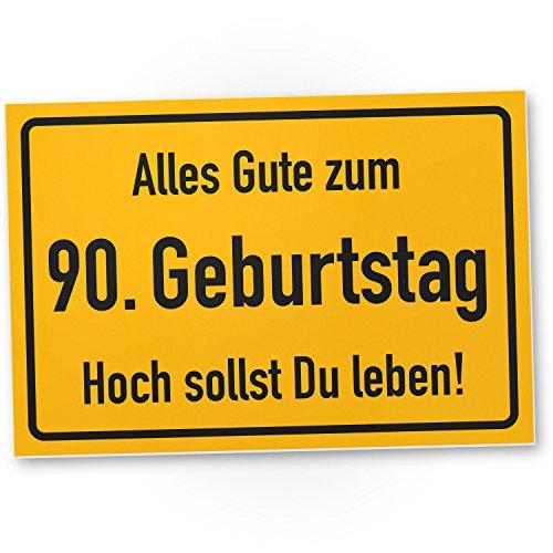 DankeDir! 90. Geburtstag Stadtschild - Kunststoff Schild, Geschenk 90. Geburtstag, Geschenkidee Geburtstagsgeschenk Neunzigsten, Geburtstagsdeko/Partydeko / Party Zubehör/Geburtstagskarte