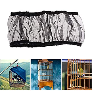 aolvo bird cage cover seed catcher net bird cage skirt seed guard - extra large cage mesh seeds guard parrot cage shell skirt - stretchy soft airy black - 52-98.4 inch - l AOLVO Bird Cage Cover Seed Catcher Net Bird Cage Skirt Seed Guard – Extra Large Cage Mesh Seeds Guard Parrot Cage Shell Skirt – Stretchy Soft Airy Black – 52-98.4 Inch – L 51 abMAF4jL