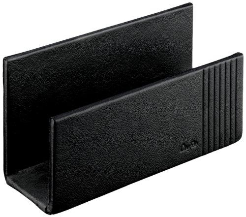 Läufer 33096 - Ambiente LA LINEA Briefständer 16 x 6,5 x 8,5 cm, aus echtem Leder, schwarz