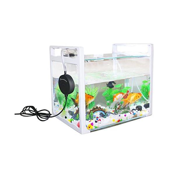 Cambani Aquarium Air Pump Super Quiet <35dB Mini Piezo Air Pump For Fish Tanks up to 50l Oxygen Supply Ultra Silent Nano…