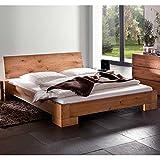 Pharao24 Massivholzbett Bett modern Eiche natur geölt NALA Ausführung 6