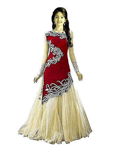 TexStile Princess Baby Girls Birthday Party wear gown DreAS_8 -12 Years(BB_ RED_Baby_zoya